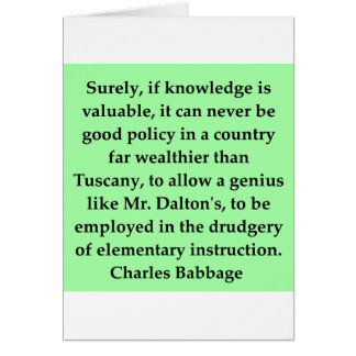 Charles Babbage quote Card