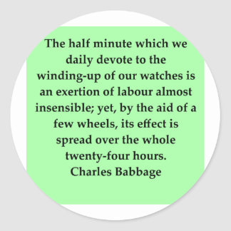 Charles Babbage quote Classic Round Sticker