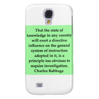 Charles Babbage quote Galaxy S4 Case