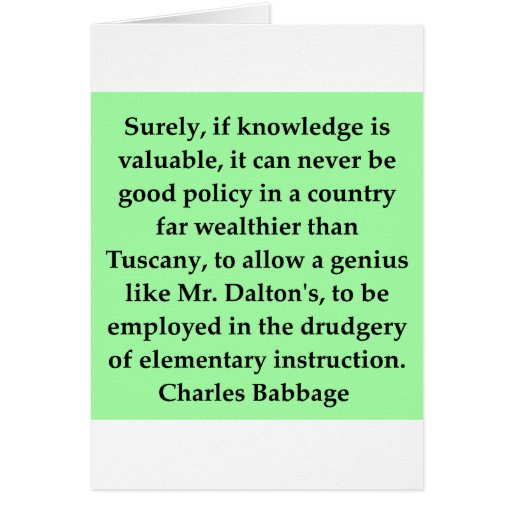 Charles Babbage quote Greeting Card