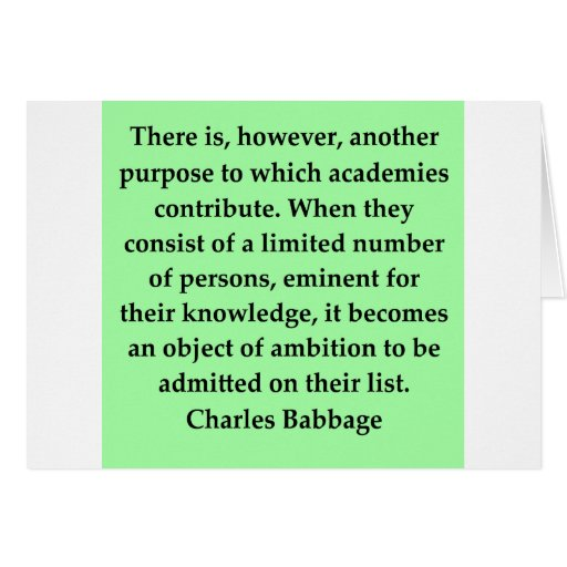 Charles Babbage quote Greeting Cards