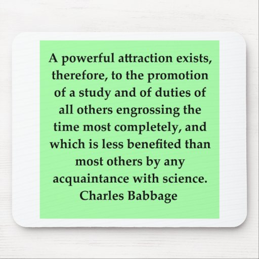 Charles Babbage quote Mouse Pad