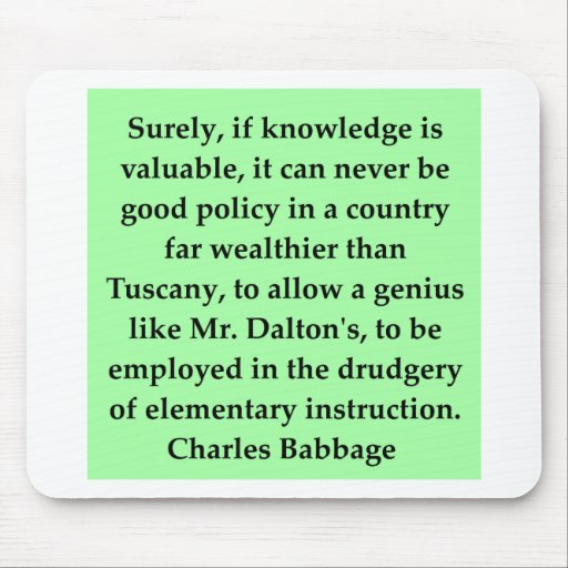 Charles Babbage quote Mouse Pads