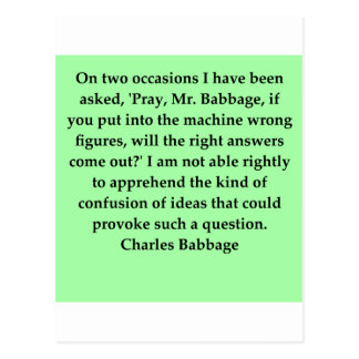 Charles Babbage quote Postcard