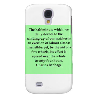 Charles Babbage quote Samsung Galaxy S4 Covers