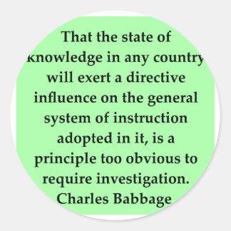 Charles Babbage quote Sticker