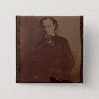 Charles Baudelaire (1820-1867), French poet, portr Button