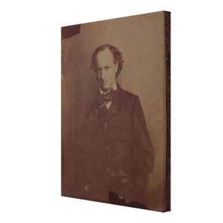 Charles Baudelaire (1820-1867), French poet, portr Canvas Print