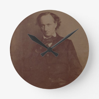 Charles Baudelaire (1820-1867), French poet, portr Round Clock