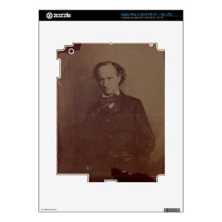 Charles Baudelaire (1820-1867), French poet, portr Skins For iPad 3