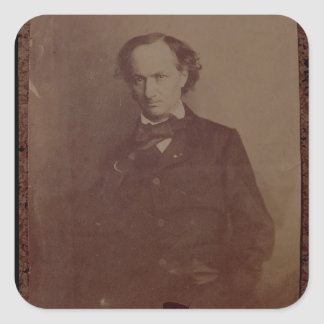 Charles Baudelaire (1820-1867), French poet, portr Square Sticker