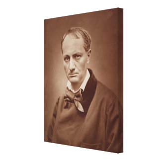 Charles Baudelaire (1821-67), French poet, portrai Stretched Canvas Print