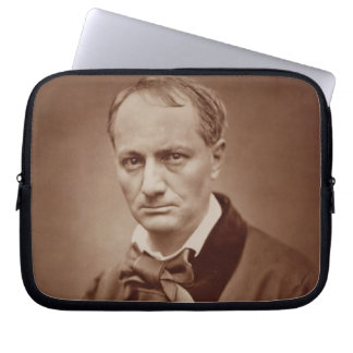 Charles Baudelaire (1821-67), French poet, portrai Laptop Computer Sleeves