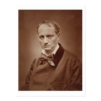 Charles Baudelaire (1821-67), French poet, portrai Postcard