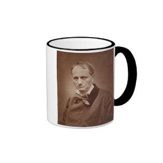 Charles Baudelaire (1821-67), French poet, portrai Ringer Coffee Mug