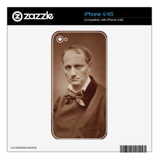 Charles Baudelaire (1821-67), French poet, portrai Skin For iPhone 4