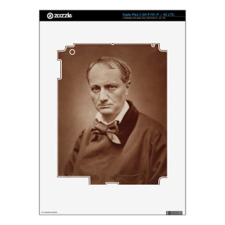 Charles Baudelaire (1821-67), French poet, portrai Skins For iPad 3