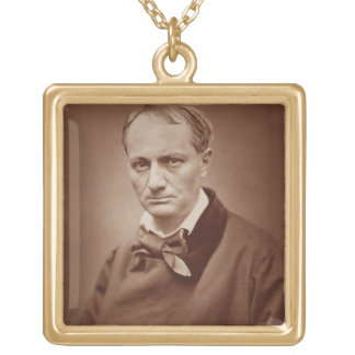 Charles Baudelaire (1821-67), French poet, portrai Square Pendant Necklace