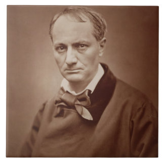 Charles Baudelaire (1821-67), French poet, portrai Large Square Tile