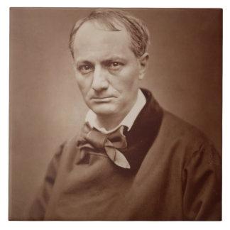 Charles Baudelaire (1821-67), poeta francés, portr Azulejo Cuadrado Grande