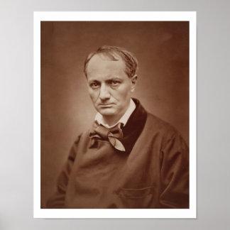 Charles Baudelaire 1821-67 poeta francés portr Poster