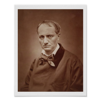 Charles Baudelaire (1821-67), poeta francés, portr Póster