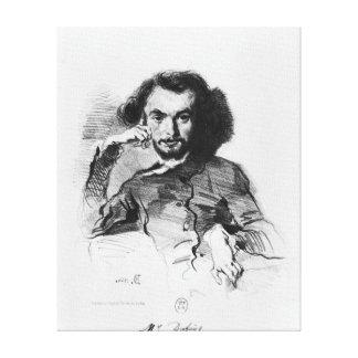 Charles Baudelaire 1844 Impresión En Lona Estirada