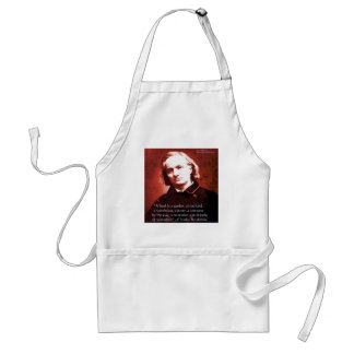"Charles Baudelaire ""A Book Is"" Wisdom Quote Gifts Apron"