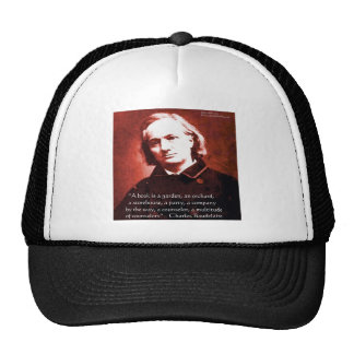 """Charles Baudelaire """"A Book Is"""" Wisdom Quote Gifts Hat"""