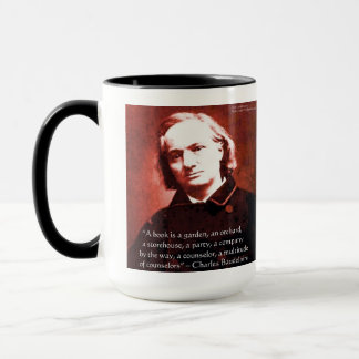 """Charles Baudelaire """"A Book Is"""" Wisdom Quote Gifts Mug"""