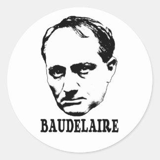 Charles Baudelaire Classic Round Sticker