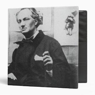 """Charles Baudelaire con los grabados, c.1863 Carpeta 1 1/2"""""""