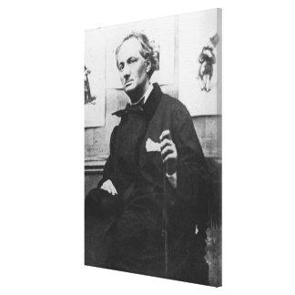 Charles Baudelaire con los grabados, c.1863 Impresión De Lienzo