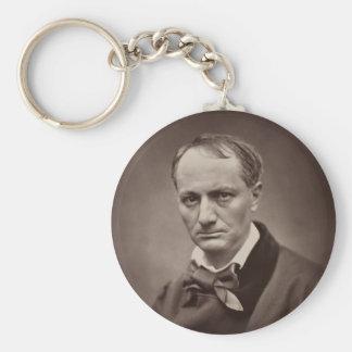 Charles Baudelaire de Étienne Carjat Llavero Redondo Tipo Pin