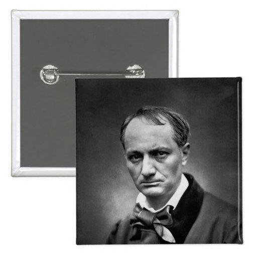 Charles Baudelaire - Vintage Photo 1878 Buttons
