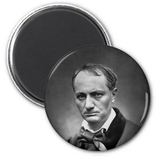 Charles Baudelaire - Vintage Photo 1878 2 Inch Round Magnet