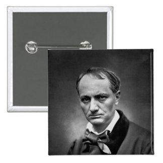 Charles Baudelaire - Vintage Photo 1878 Pinback Button