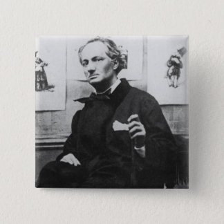 Charles Baudelaire  with Engravings, c.1863 Button