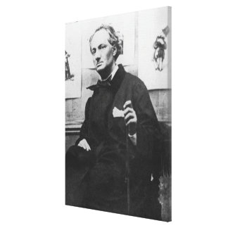 Charles Baudelaire  with Engravings, c.1863 Canvas Print