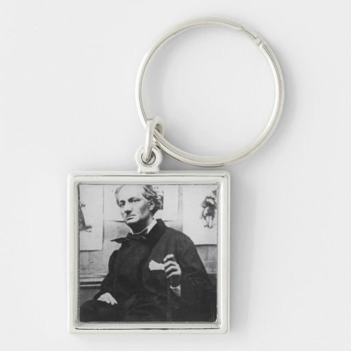 Charles Baudelaire  with Engravings, c.1863 Keychains