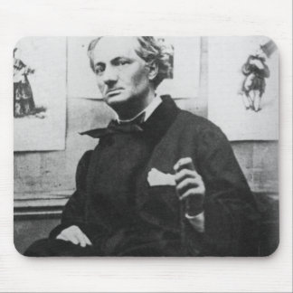Charles Baudelaire  with Engravings, c.1863 Mouse Pad