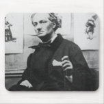 Charles Baudelaire  with Engravings, c.1863 Mousepad