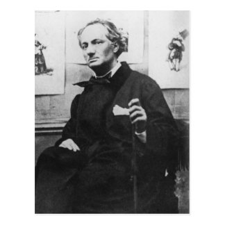 Charles Baudelaire  with Engravings, c.1863 Postcard