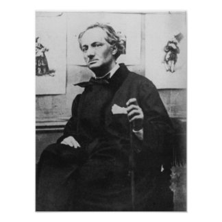 Charles Baudelaire  with Engravings, c.1863 Poster