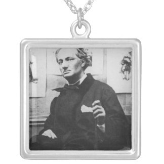 Charles Baudelaire  with Engravings, c.1863 Silver Plated Necklace