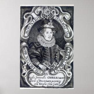 Charles Blount, 8th Baron Mountjoy Print
