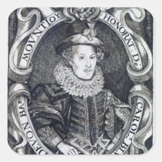 Charles Blount, 8vo barón Mountjoy Pegatina Cuadrada