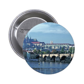Charles Brdge Prague Castle Tom Wurl.jpg Pinback Button