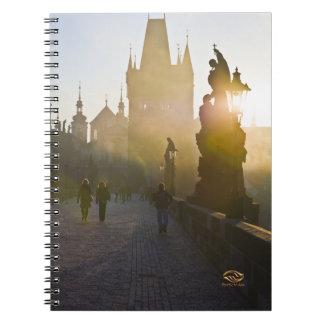 Charles Bridge Morning Fog Prague Notebook