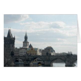 Charles Bridge Prague Czech Republic Note Card